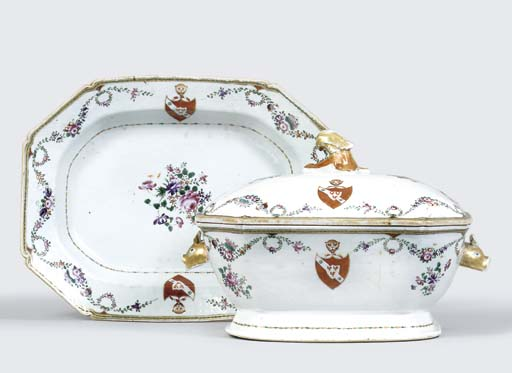 A FAMILLE ROSE ARMORIAL SOUP-T