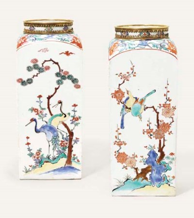 An Impressive Pair of Kakiemon