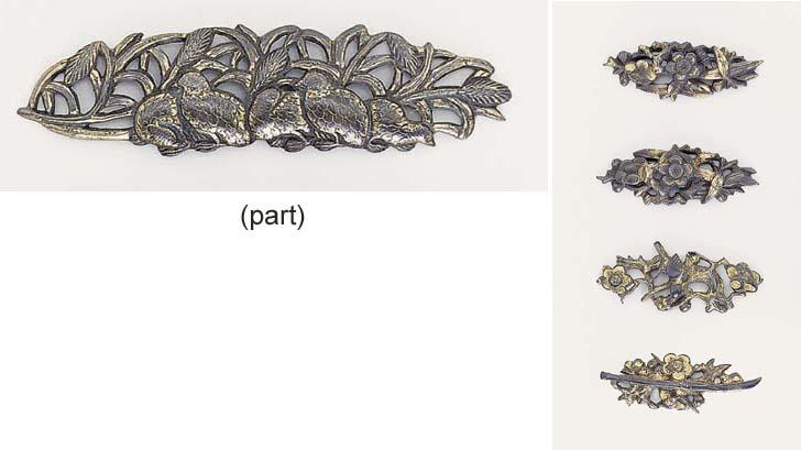 Two pairs of menuki [Hilt Fittings]