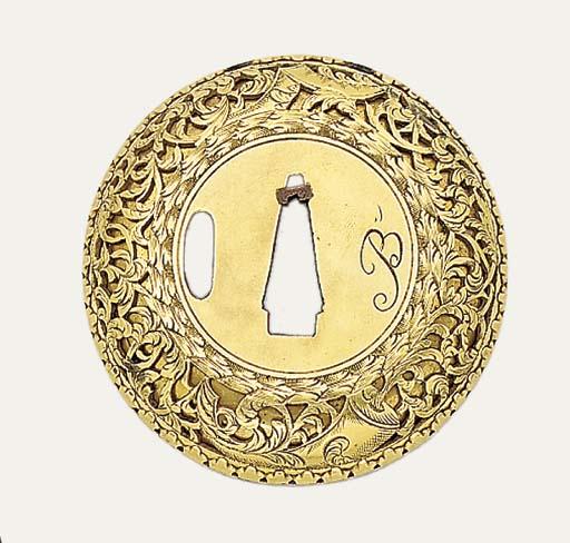 An Unusual Brass Tsuba