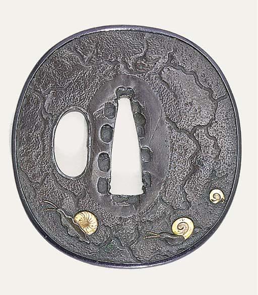 An Early Three Plate Tsuba