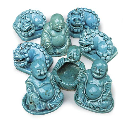 SEVEN SMALLL CHINESE TURQUOISE