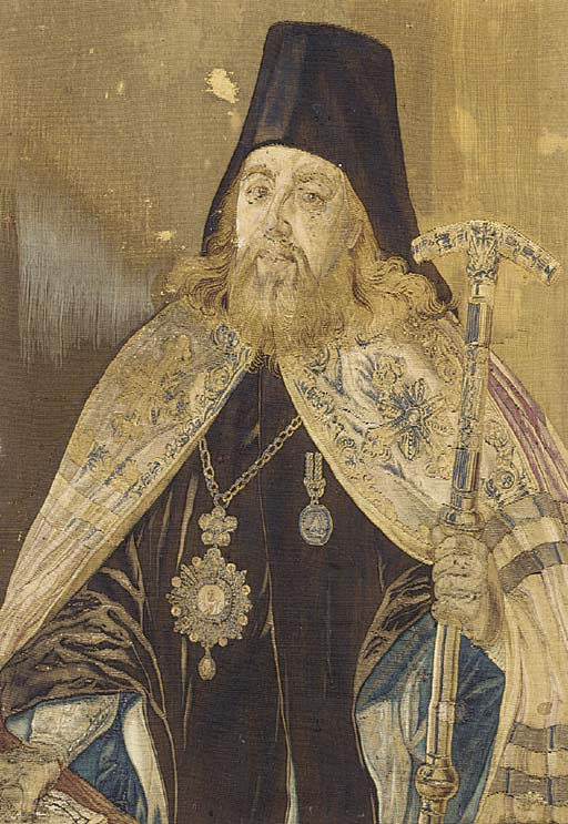 A RUSSIAN PORTRAIT TAPESTRY