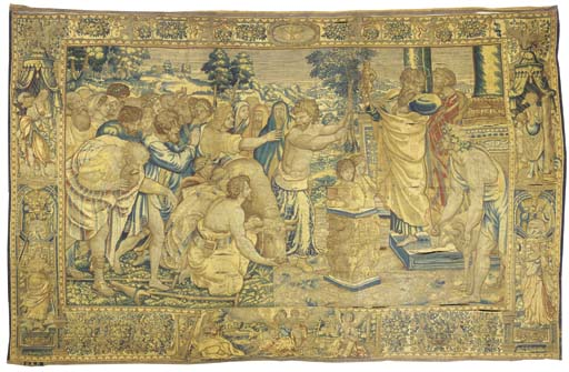 A BRUSSELS BIBLICAL TAPESTRY O