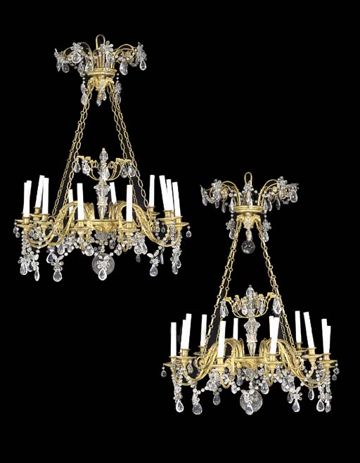 A PAIR OF FRENCH ORMOLU, ROCK