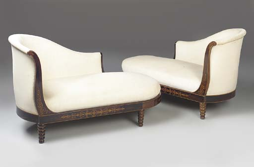 A PAIR OF CHARLES X ROSEWOOD,