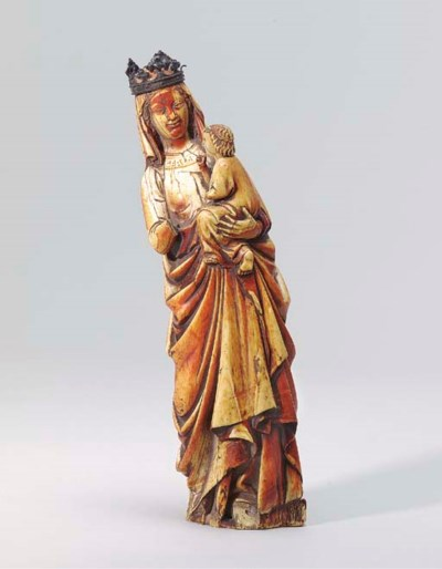 AN IVORY GROUP OF THE VIRGIN A