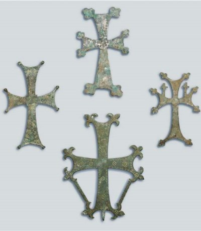 A GROUP OF FOUR BRONZE PROCESS