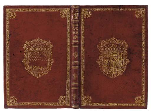 SPANISH BINDING -- pseudo-HEGESIPPUS. De rebus à Iudaeorum principibus in obsidione fortiter gestis ... libri V, translated by St. Ambrose. Cologne: Joannes Soter, 1530.