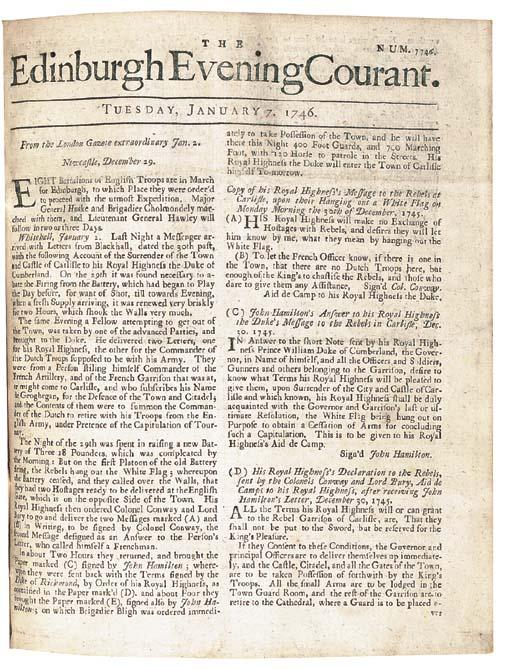 NEWSPAPERS -- The Edinburgh Ev