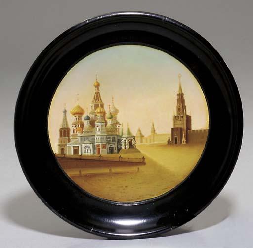 A papier-mache lacquer plate