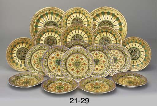 A pair of large porcelain plat