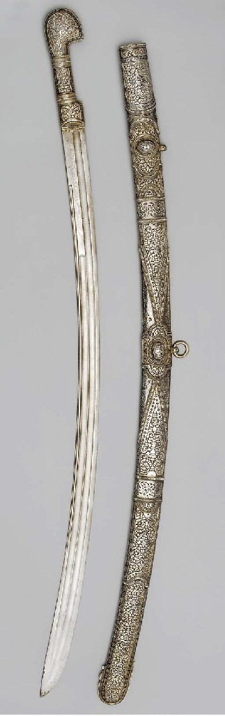 A parcel-gilt and niello Shash