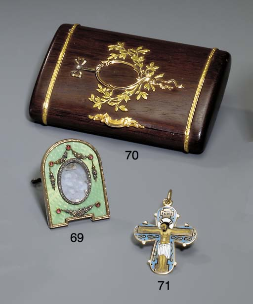 A gold and champlevé enamel pe