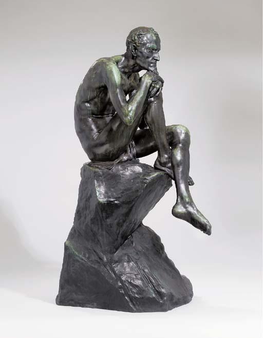 A bronze figure of Mephistophe