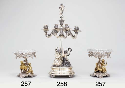 A Victorian silver eight-light