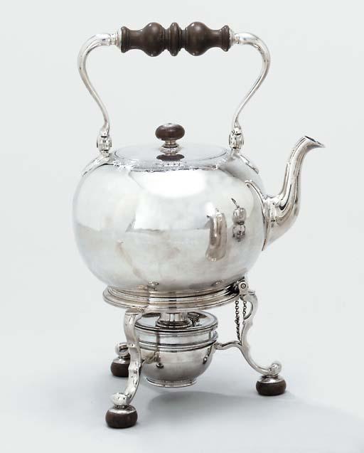 A George II silver tea-kettle