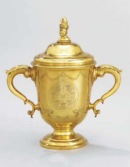A George II gold cup and cover
