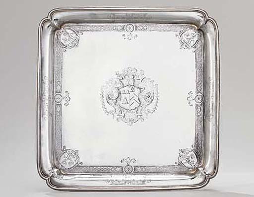 A George I silver salver