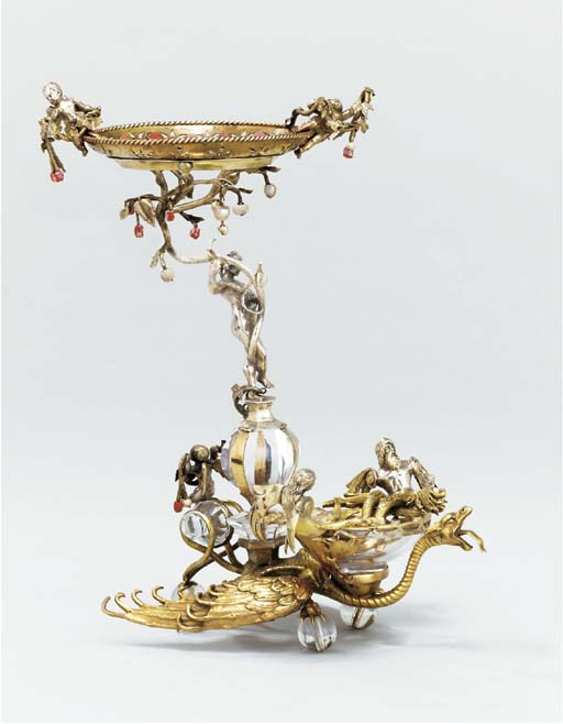 An Austro-Hungarian silver-gil