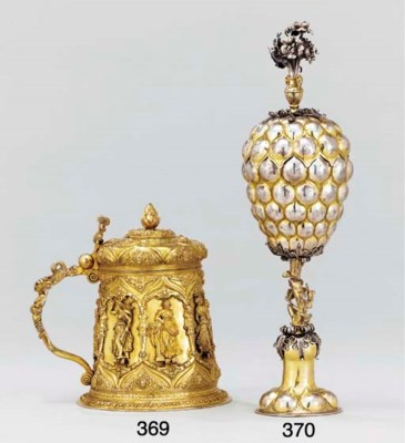 A German parcel-gilt pineapple