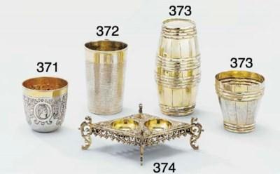 A German silver-gilt double sa