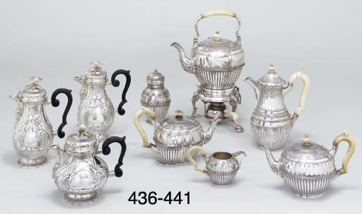 A German silver coffee-pot and