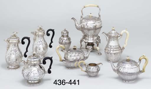 A German silver teapot