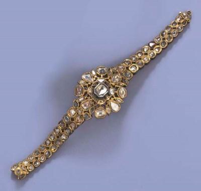 AN INDIAN DIAMOND AND ENAMEL B