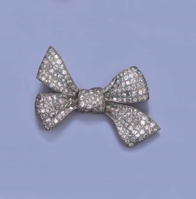 A BELLE EPOQUE DIAMOND BOW BRO