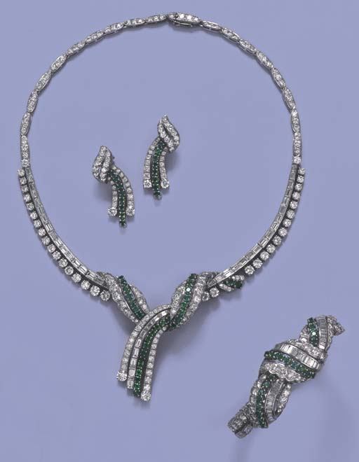 AN EMERALD AND DIAMOND SUITE O