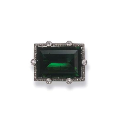 A BELLE EPOQUE TOURMALINE AND