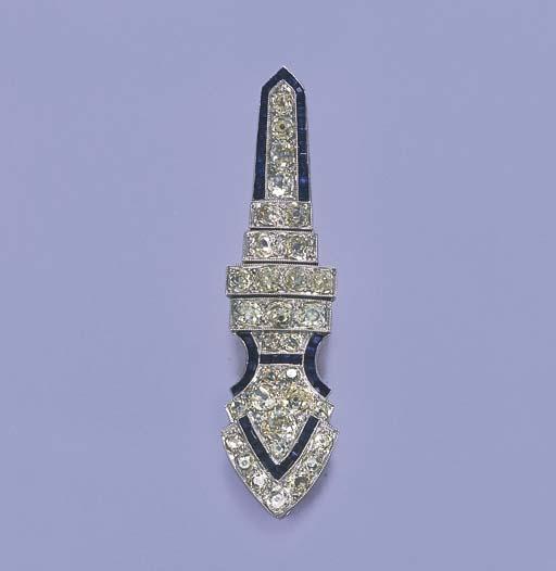 A BELLE EPOQUE DIAMOND AND SAP