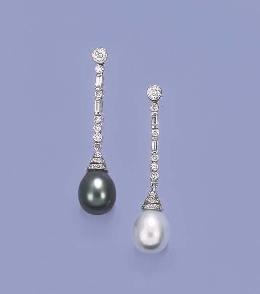 A PAIR OF SOUTH SEA CULTURED P