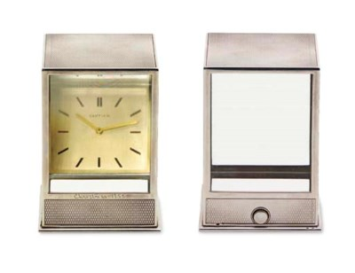 A 'PRISMA' DESK CLOCK, BY CART