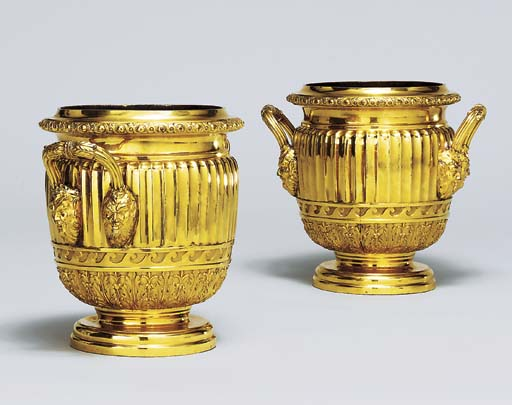 A PAIR OF GEORGE III GILT-COPP