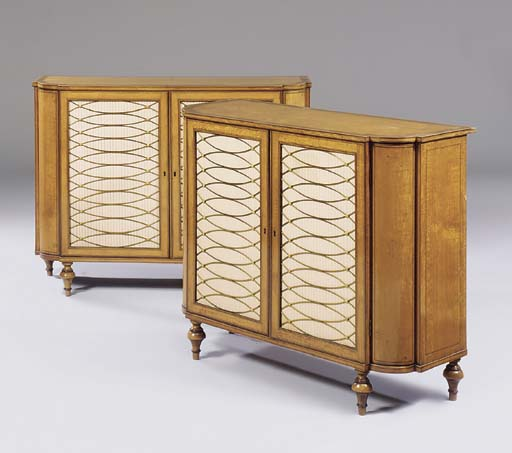 A MATCHED PAIR OF REGENCY SATI
