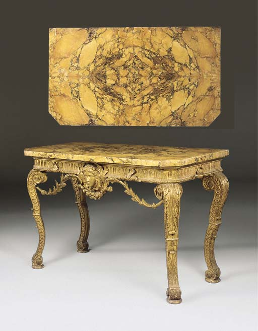 AN EARLY GEORGE III GILTWOOD P