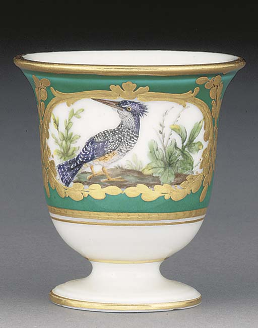 A Sevres turquoise-ground ice-