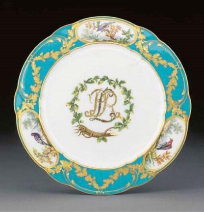 A Sevres plate (assiette a pal