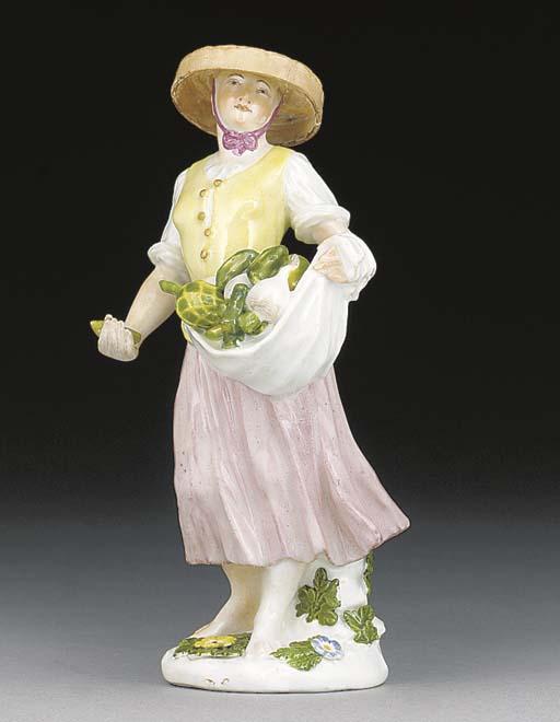 A Meissen figure of a vegetabl
