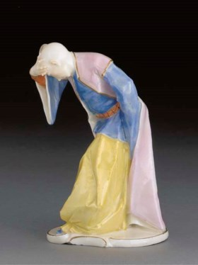 A Nymphenburg figure of a bowing Oriental