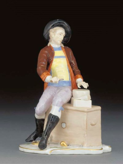 A Nymphenburg figure of a chee