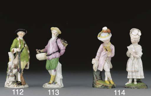 A Meissen figure of a huntsman