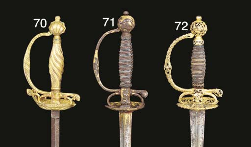 TWO GERMAN SMALL-SWORDS WITH G