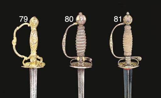 TWO BRASS-HILTED SMALL-SWORDS