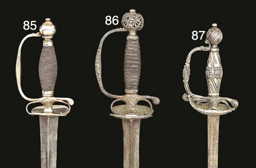 TWO CONTINENTAL SILVER-HILTED