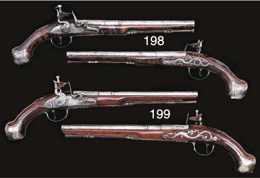 A PAIR OF 18-BORE FLINTLOCK HO