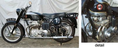 1956 ARIEL SQUARE FOUR MOTORCY