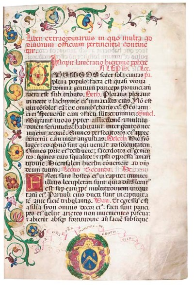 FESTAL LECTIONARY WITH INVITAT
